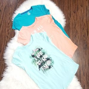 George Girls Youth Coral Short Sleeve Tees Blue XL